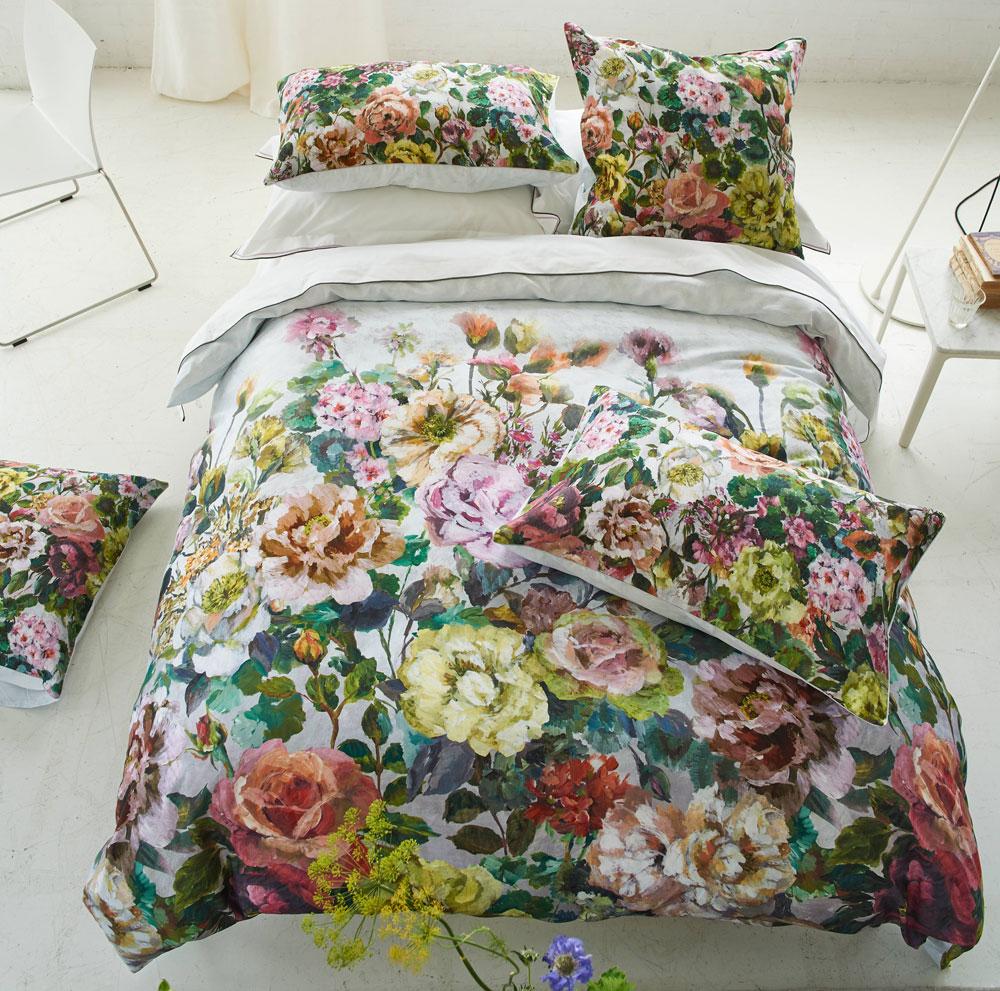 Housse de couette Grandiflora Rose Dusk Designers Guild