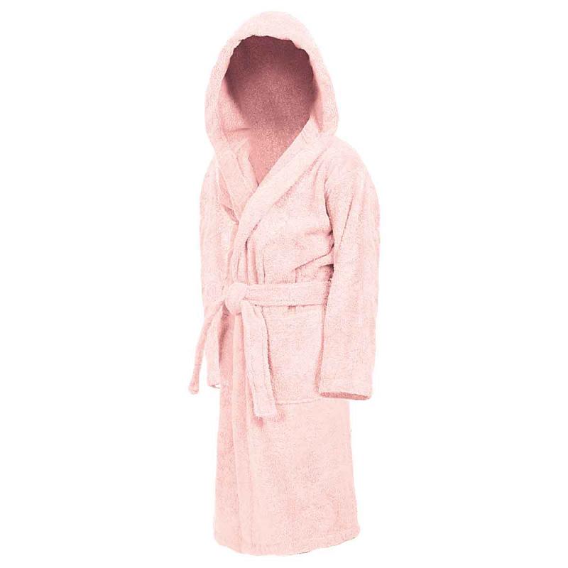 Peignoir éponge enfant à capuche rose Sensei