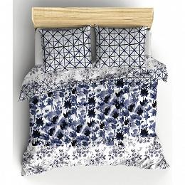Parure de couette Delft Bleu