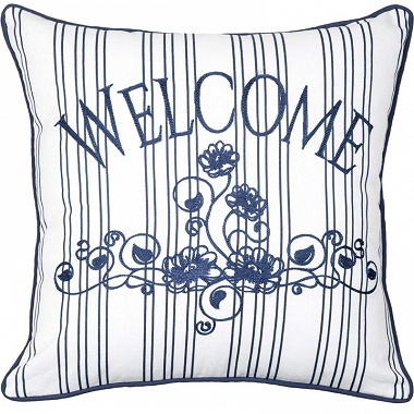Coussin Welcome 45×45cm AK collection