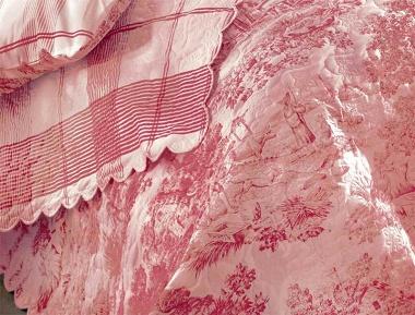 Couvre lit Pastorale rouge Aude de Balmy
