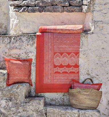 Plaid Brunelleschi Corail Bassetti