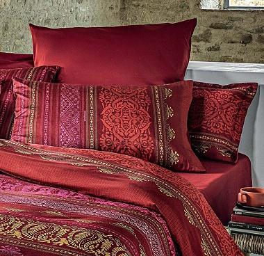 Taies d'oreiller Urbino rosso Bassetti
