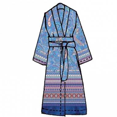 Veste d'intérieur Burano Blu Bassetti