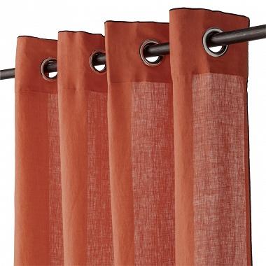 Rideau Lin Lavé Paprika Baton rouge