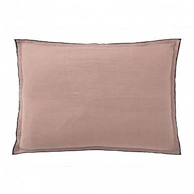 Taies d'oreiller Percale lavée Rose Baton rouge