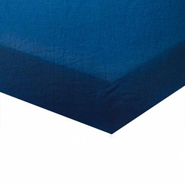 Drap housse Bleu Marine Blanc des Vosges