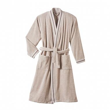 Peignoir kimono Plaisance Sable Blanc des Vosges
