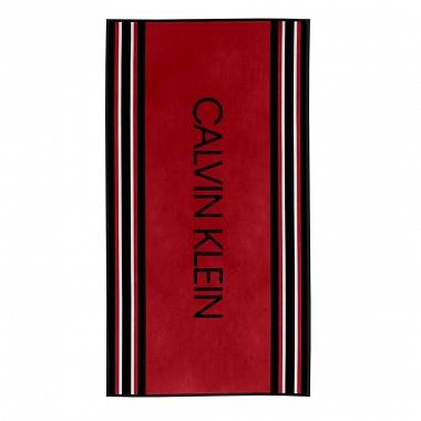 Drap de plage Border Stripe Red Calvin Klein