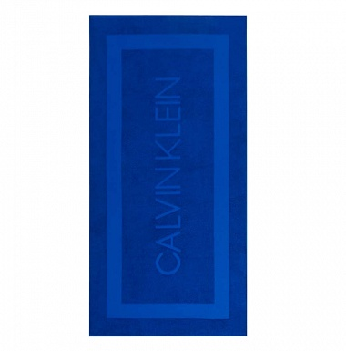 Drap de plage Terry Sculpt Blue Calvin Klein
