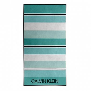 Drap de plage Tonal Stripe Green Calvin Klein