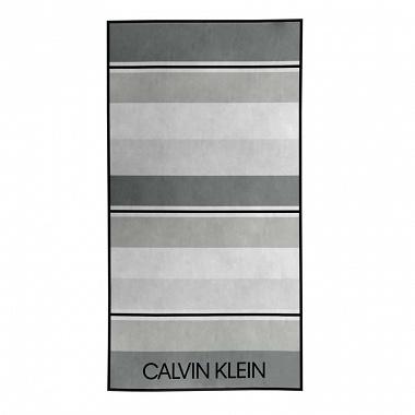 Drap de plage Tonal Stripe Grey Calvin Klein