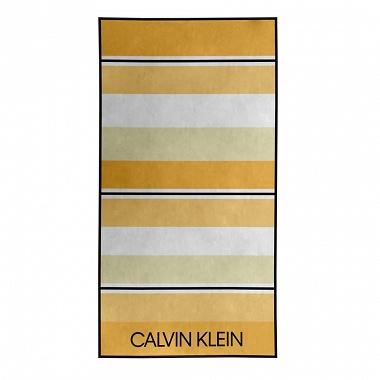 Drap de plage Tonal Stripe Yellow Calvin Klein