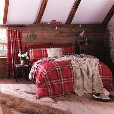 Parure de couette Kelso Red Catherine Lansfield