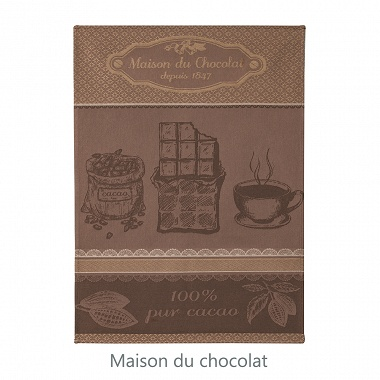 6 Torchons Choc­do­lat Coucke