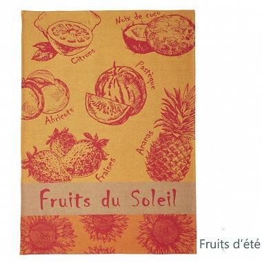 6Torchons Fruits et Légumes d'été Coucke