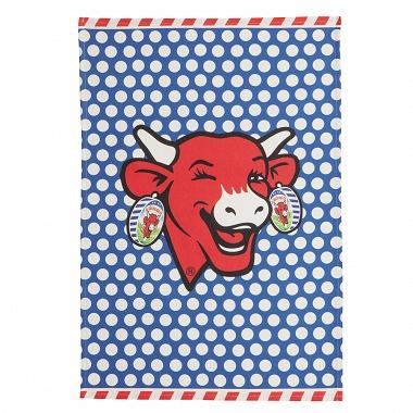 6Torchons La vache qui rit Pop bleu Coucke