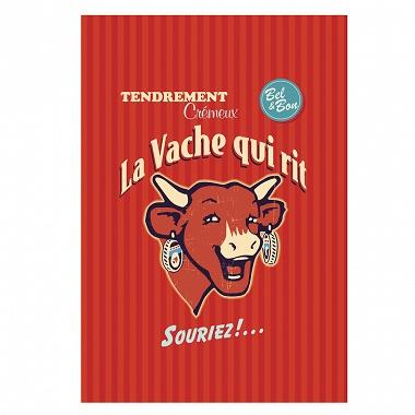 6Torchons La vache qui rit rétro rouge Coucke