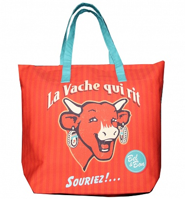 Sac Shopping La vache qui rit Retro rouge Coucke