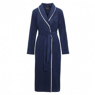 Robe de chambre polaire Clara bleu nuit Descamps