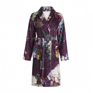 Robe de chambre Fleur Burgundy Essenza