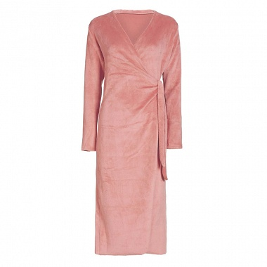 Robe de chambre Vera Uni Canyon rose Essenza