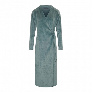 Robe de chambre Vera Uni Denim Essenza