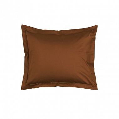 Taies d'oreiller Minte Leather Brown Essenza