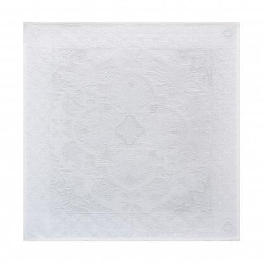 4serviettes de table azulejos blanc Jacquard Français
