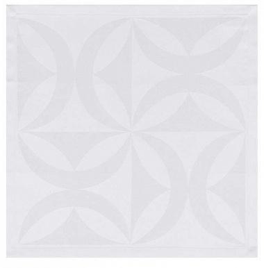 4serviettes de table ellipse blanc Jacquard Français
