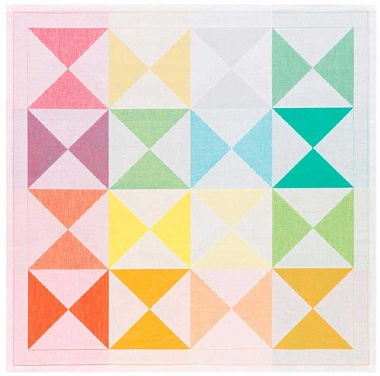 4serviettes de table origami multicolore Jacquard Français