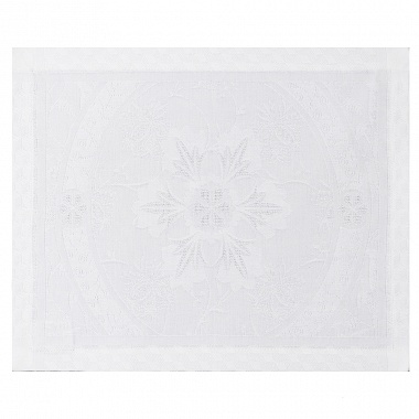 4 Sets de table Duchesse Blanc Jacquard Français