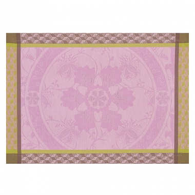 4 Sets de table Duchesse Pivoine Jacquard Français