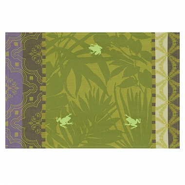 4 sets de table enduits Bahia jungle Jacquard Français