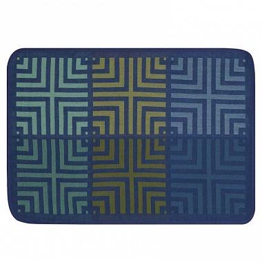 4sets de table kaléidoscope illusion bleu Jacquard Français