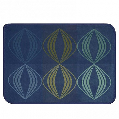 4 sets de table kaléi­do­scope vision bleu Jacquard Français