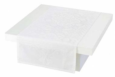 Chemin de table azulejos blanc Jacquard Français