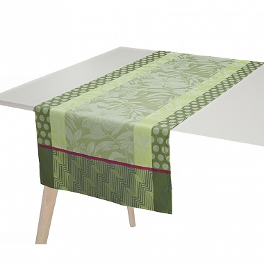 Chemin de table Nature Urbaine Gazon Jacquard Français