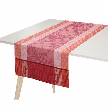 Chemin de table Nature Urbaine Quartz Jacquard Français