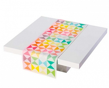 Chemin de table origami multi­co­lore Jacquard Français