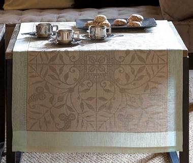 Chemin de table venezia beige cendré Jacquard Français