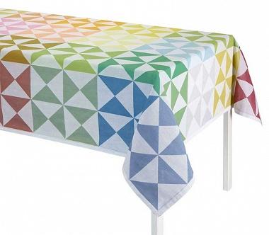 Nappes origami multicolore Jacquard Français
