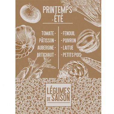 Torchon De saison Légumes Terre Jacquard Français