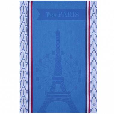 Torchon mon Paris bleu Jacquard Français