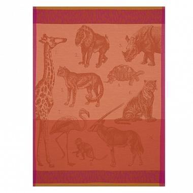 Torchon planche animalière Safari fauve Jacquard Français