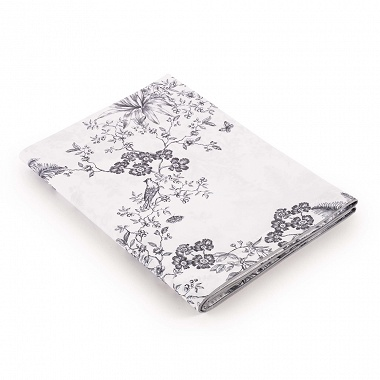Drap plat Louise Platine Jardin secret