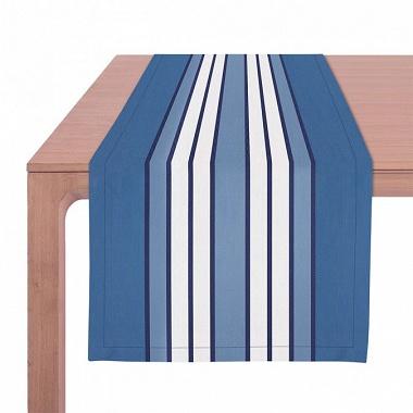 Chemin de table Espelette Bleu Nuit Jean Vier