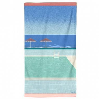 Drap de plage Chambre d'amour bleu Horizon Jean Vier
