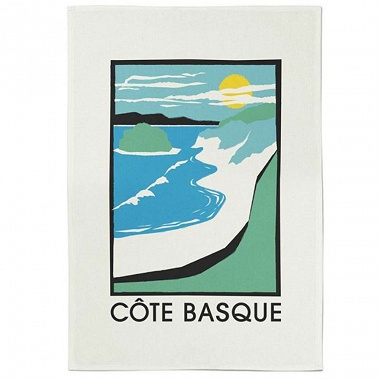 Essuie-mains Koadro Côte Basque vert/bleu Jean Vier