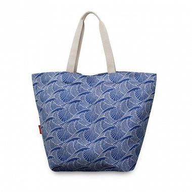 Sac shopping Bilbatu Vagues Bleu Jean Vier